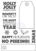 Crafty Impressions - Christmas Tags Holly Jolly - Clear Stamp - CICSA6098